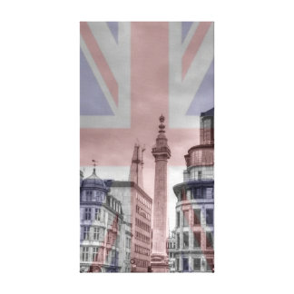 Monument to the fire of London Canvas Print