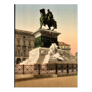 Monument to Victor Emmanuel, Milan, Italy vintage Postcard