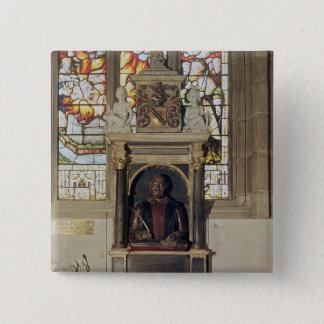 Monument to William Shakespeare  c.1616-23 Pinback Button