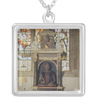 Monument to William Shakespeare  c.1616-23 Silver Plated Necklace