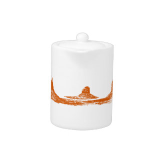 Monument Valley, 3 mountains, 3 colors Teapot