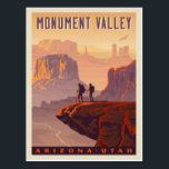 "Monument Valley | Arizona &amp; Utah Postcard<br><div class=""desc"">Anderson Design Group is an award-winning illustration and design firm in Nashville,  Tennessee. Founder Joel Anderson directs a team of talented artists to create original poster art that looks like classic vintage advertising prints from the 1920s to the 1960s.</div>"