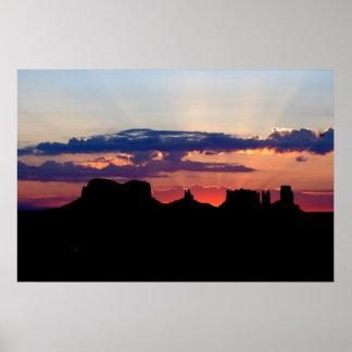 Monument Valley at Sunrise Print