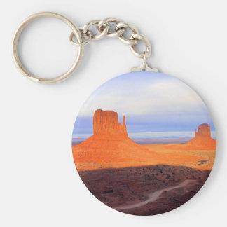 Monument Valley at sunset Basic Round Button Keychain