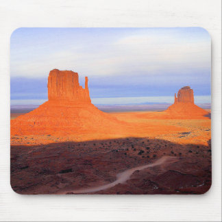 Monument Valley at sunset Mouse Pad