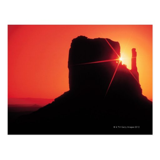 Monument Valley at sunset , Utah Post Cards