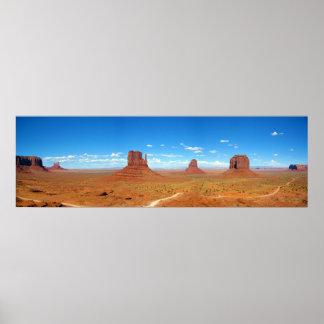 Monument Valley Between Arizona and Utah Poster
