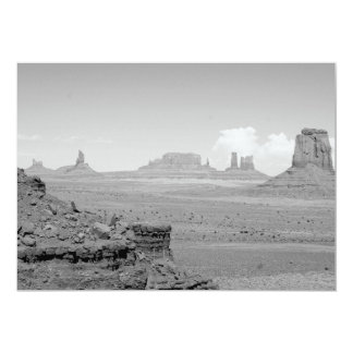 Monument Valley (black and white) 2 5x7 Paper Invitation Card