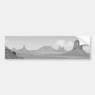 Monument Valley (black and white) 2 Bumper Sticker