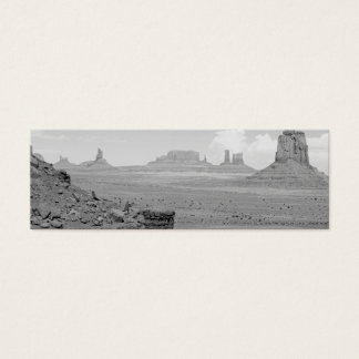 Monument Valley (black and white) 2 Mini Business Card