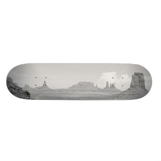 Monument Valley (black and white) 2 Skateboard Deck