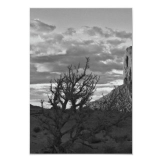 Monument Valley (black and white) 3 3.5x5 Paper Invitation Card