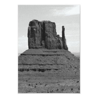 Monument Valley (black and white) 3.5x5 Paper Invitation Card