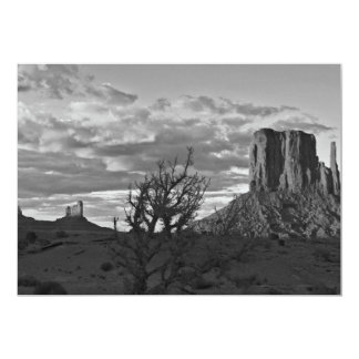 Monument Valley (black and white) 3 5x7 Paper Invitation Card