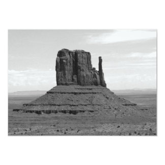 Monument Valley (black and white) 5x7 Paper Invitation Card