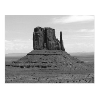 Monument Valley (black and white) Postcard