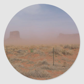 Monument Valley Dust Storm Classic Round Sticker