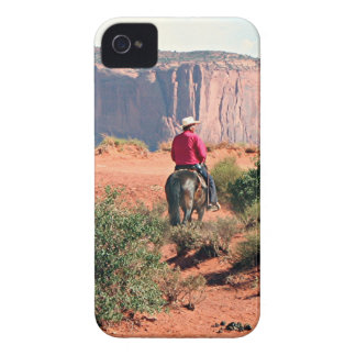 Monument Valley horse and rider, Utah, USA iPhone 4 Case