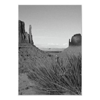 Monument Valley in Arizona/Utah (black and white) 3.5x5 Paper Invitation Card