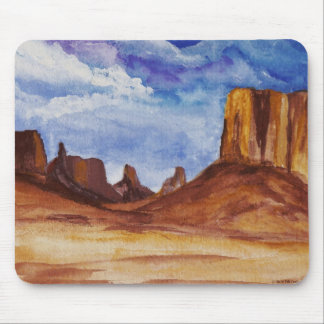 Monument Valley in watercolor Mousepad