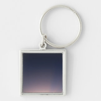 Monument Valley , Navajo Tribal Park , Arizona 2 Silver-Colored Square Keychain