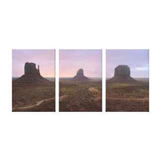 Monument Valley Panorama Stretched Canvas Print