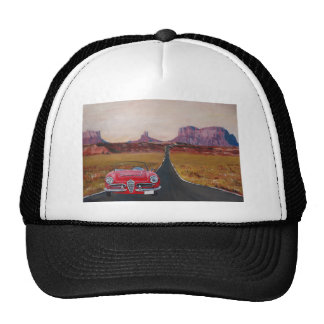 Monument Valley Road Trip with Oldtimer Convertibl Trucker Hat