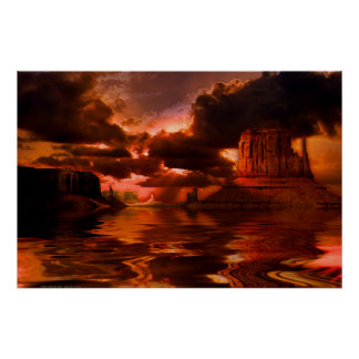 Monument-Valley-Sunrise-SET-3 Poster