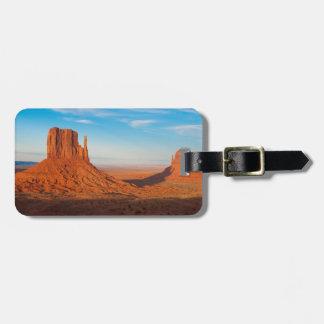 Monument Valley Utah desert mittens in panoramic Bag Tag
