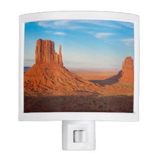 Monument Valley Utah desert mittens in panoramic Night Light