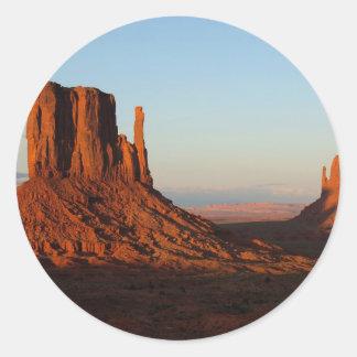 Monument Valley Utah Desert Rock Formation Classic Round Sticker