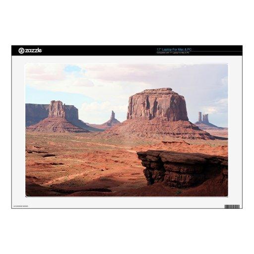 """Monument Valley, Utah, USA 4, John Ford's Point 17"""" Laptop Decal"""