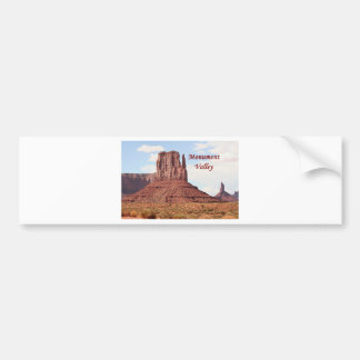 Monument Valley, Utah, USA 7 (caption) Bumper Sticker