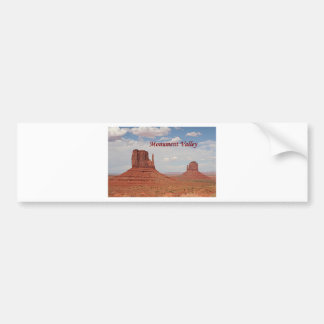 Monument Valley, Utah, USA (caption 1) Bumper Sticker