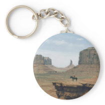 Monument Valley with Cowboy Keychain