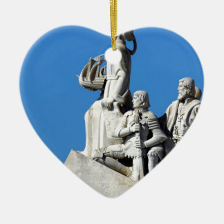 Monument you the Portuguese Discoveries at Lisbon Ceramic Ornament
