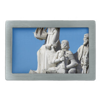 Monument you the Portuguese Discoveries at Lisbon Rectangular Belt Buckle