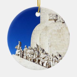 Monument you the Portuguese Sea Discoveries Ceramic Ornament