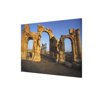 Monumental Arch, Palmyra, Homs, Syria Canvas Print