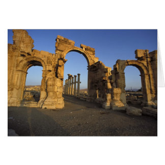 Monumental Arch, Palmyra, Homs, Syria Card