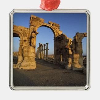 Monumental Arch, Palmyra, Homs, Syria Square Metal Christmas Ornament