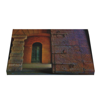 Monumental Gates, Lucca, Wrapped Canvas Print