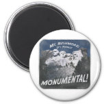 Monumental Mt. Rushmore 2 Inch Round Magnet