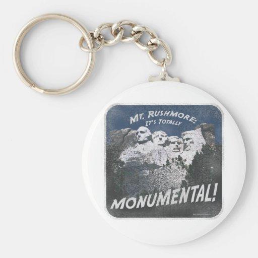 Monumental Mt. Rushmore Basic Round Button Keychain