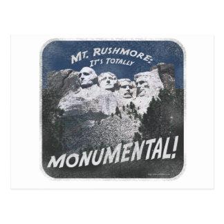 Monumental Mt. Rushmore Postcard