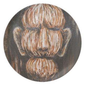 Monumental Old Age (surreal realism portrait) Plate