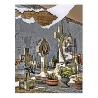 Monumental Tombstones Postcard