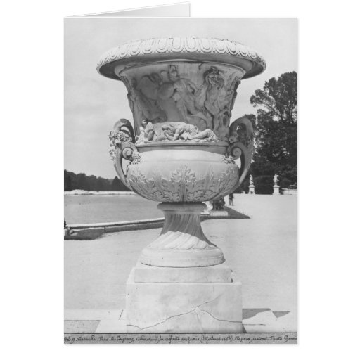 Monumental vase, allegory of defeat of Turks Greeting Cards