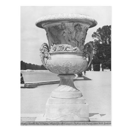 Monumental vase, allegory of defeat of Turks Post Card