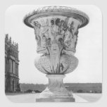 Monumental vase, allegory of defeat of Turks Square Sticker